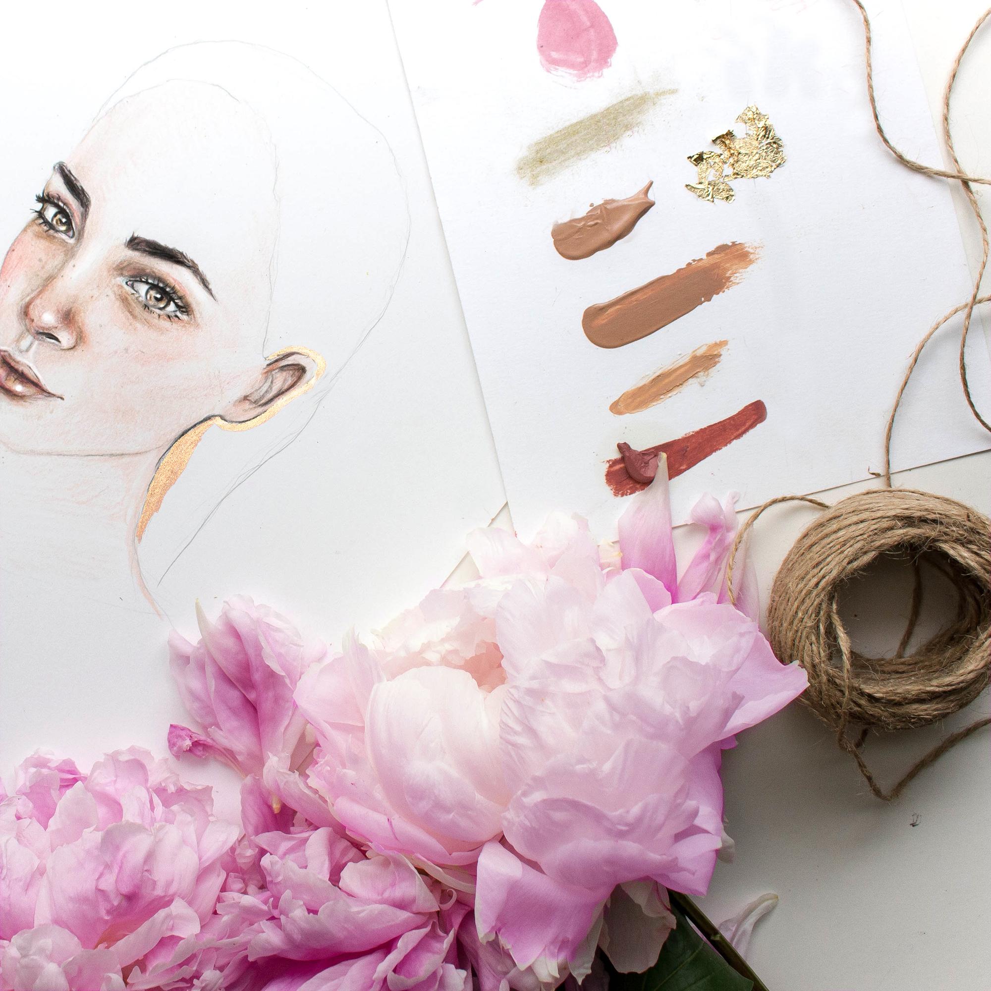 Aisha Jade Fashion / Beauty Illustration