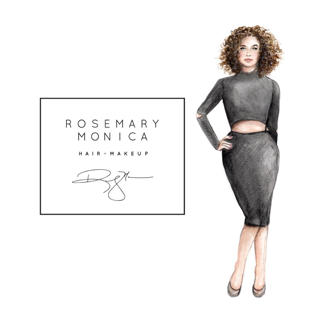 Custom fashion illustration for business logo