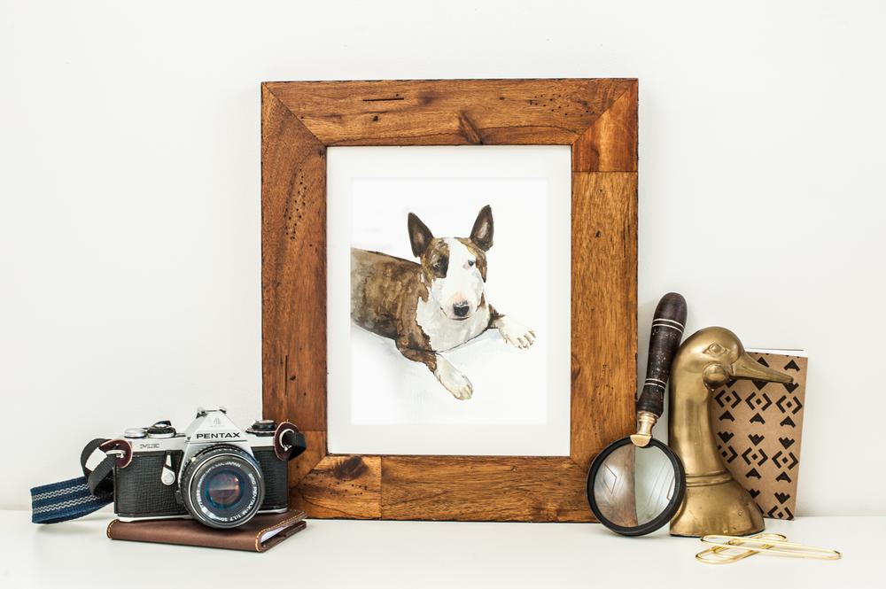 "Custom pet portrait, watercolor illustration, 8""x10"""