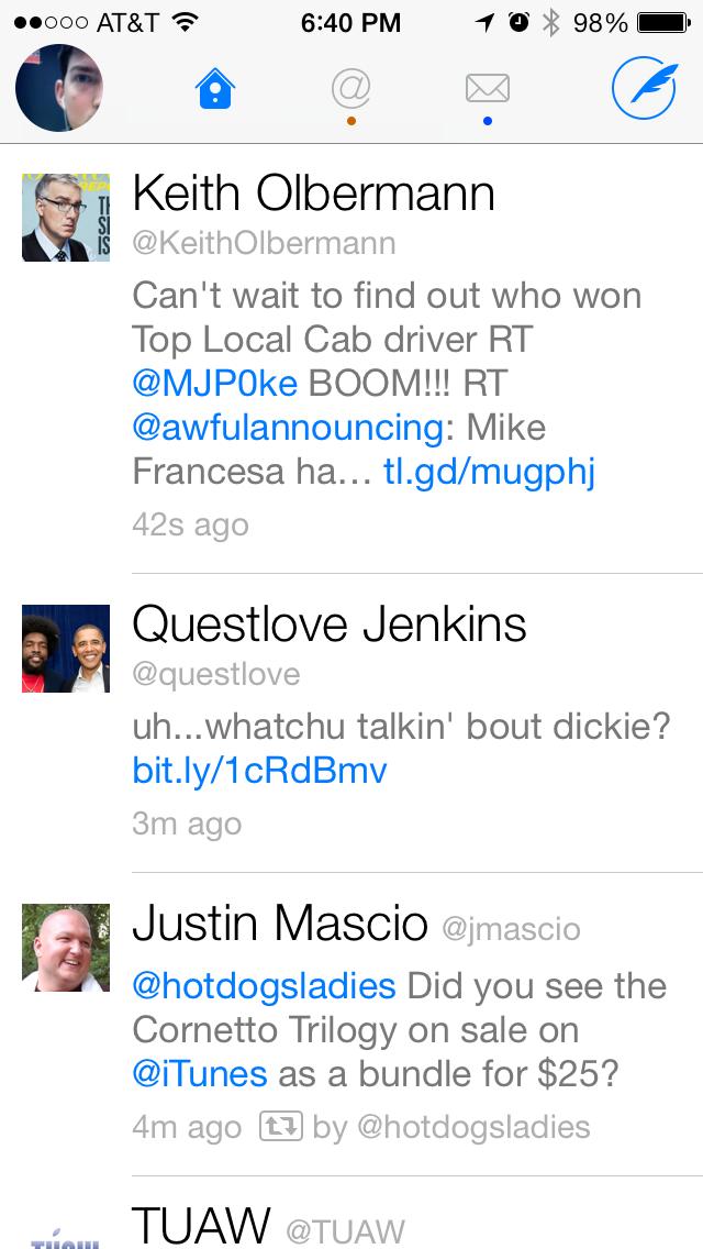 Don't judge my Twitter timeline. #tremendousfollowguilt