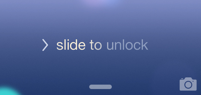 This was semi-corrected by turning the arrow into a line, which then turned into a chevron when pulled on, but the slide to unlock chevron looks the same.