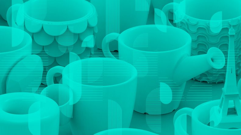 3D Printed Cups by Cunicode
