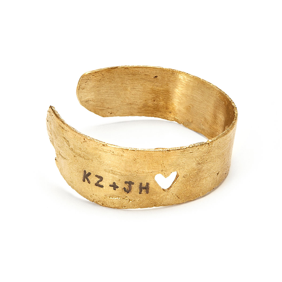 This bracelet is handmade from birch bark and custom engraved with the initials of you and your sweetie. If you can't carve into a tree, this might be the next best (better?) thing! Find it  Here