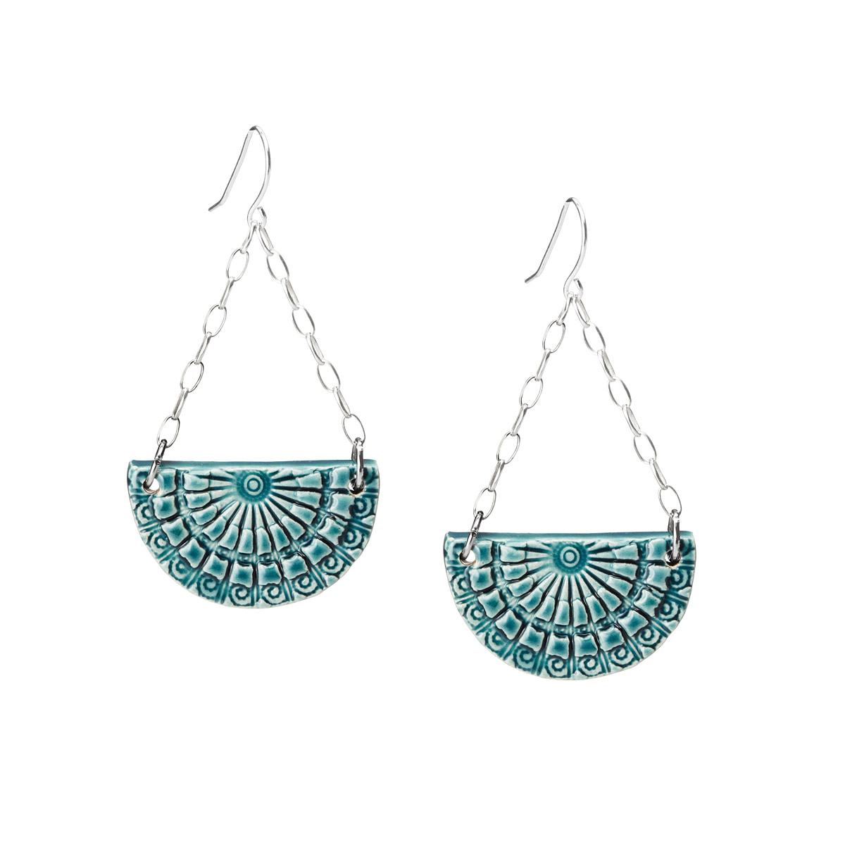 These are just pretty. Handmade in one of my favorite colors. Find it  Here