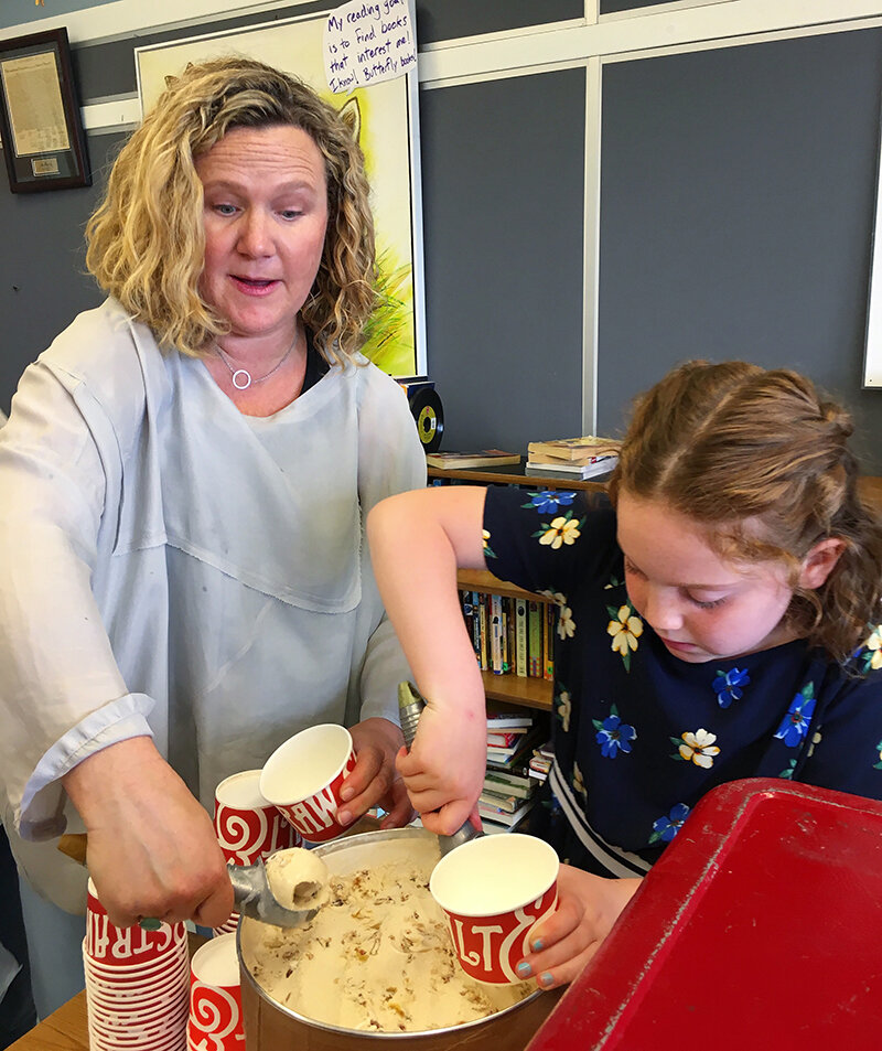 """Shortly after school starts, Salt & Straw partners with the elementary school closest to its respective shops, inviting children to submit their dream ice cream flavor. Tyler Malek, Salt & Straw's co-founder and head ice cream maker, likes to think of it as, """" mobilizing an army of the most creative thinkers in the country ."""""""