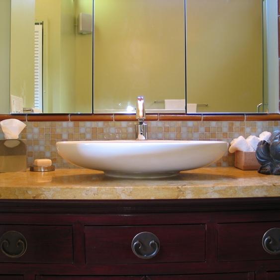 Oakland Montclair Cabin Asian Master Bath