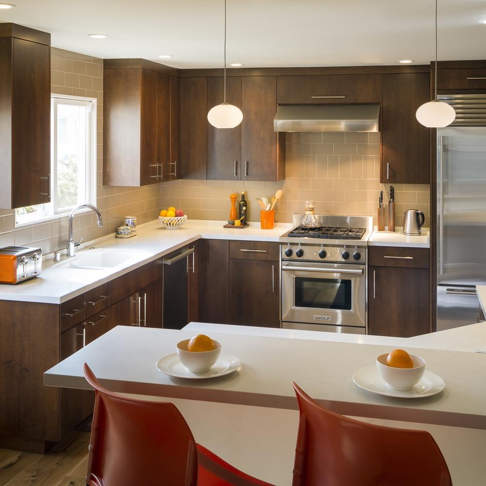 San Francisco Saint Francis Wood Mid-Century Modern Kitchen