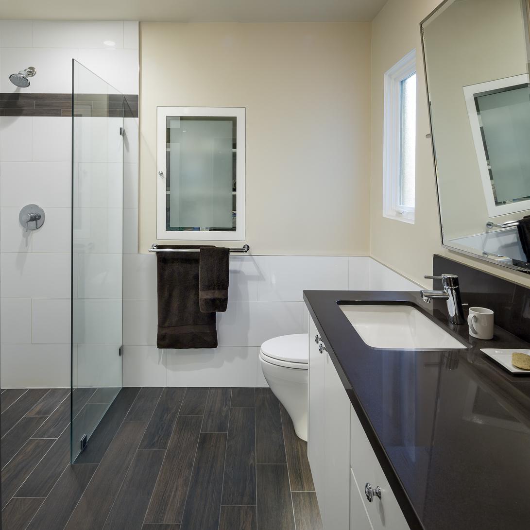 San Francisco Saint Francis Wood Mid-Century Modern Master Bath
