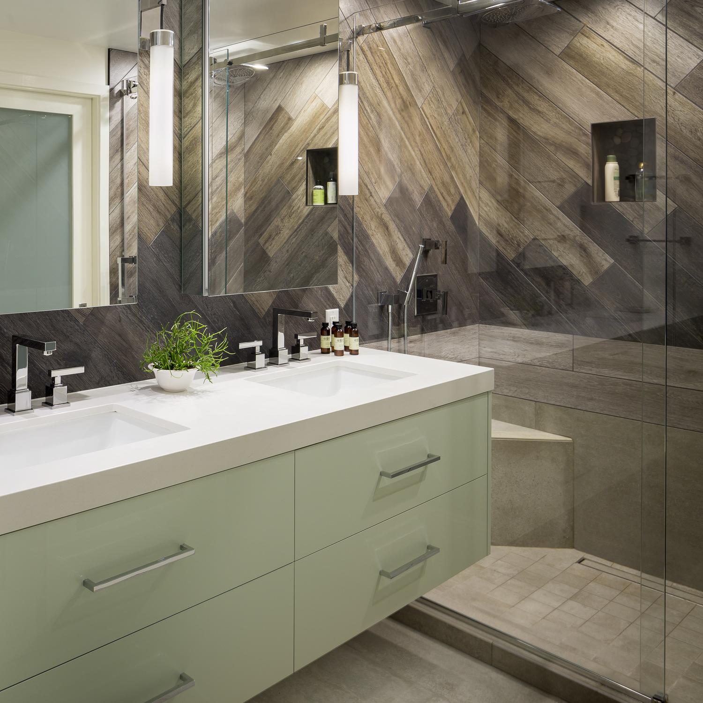 San Francisco SoMa Modern Rustic Master Bath