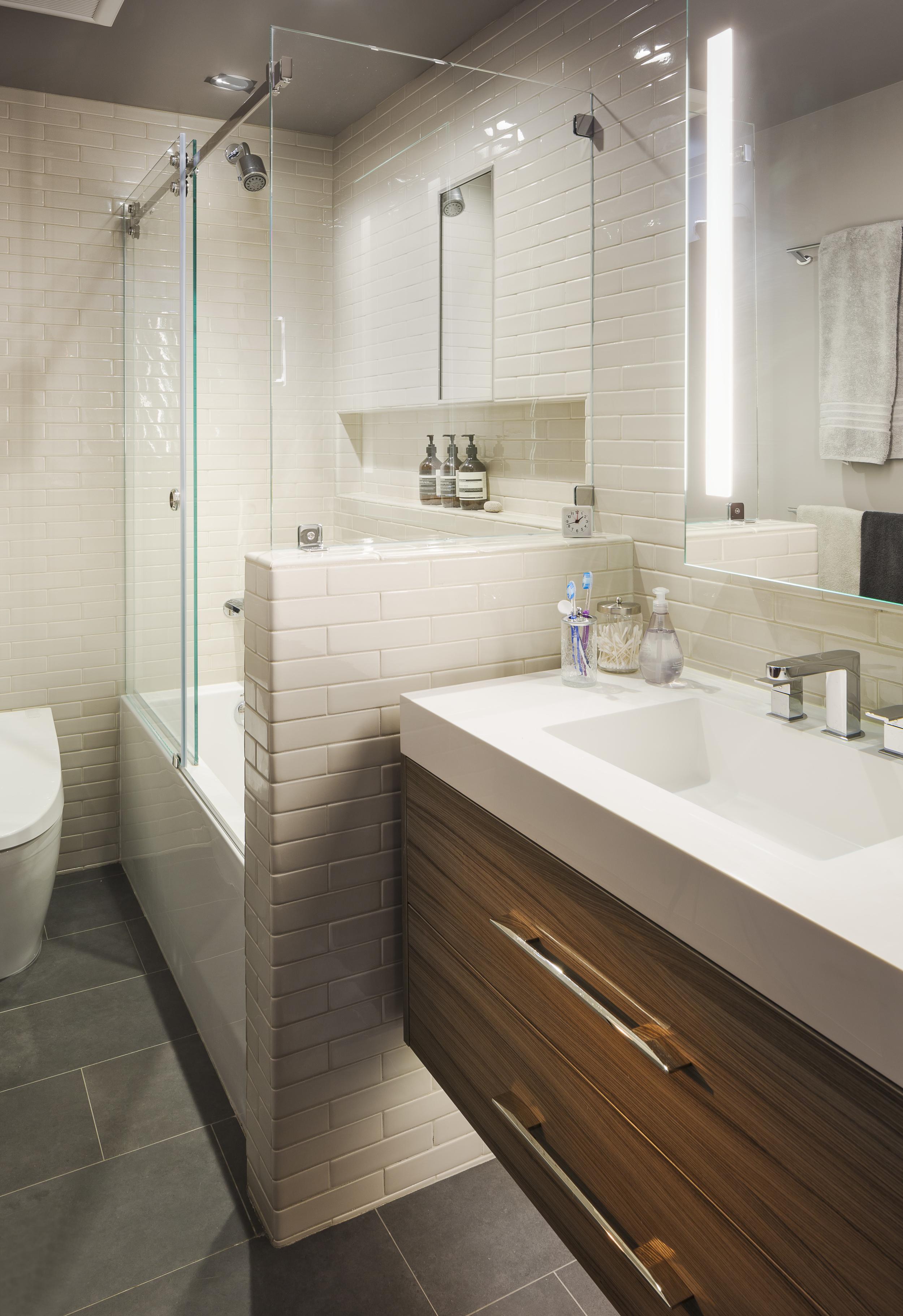 San Francisco Castro Condo Modern Master Bathroom