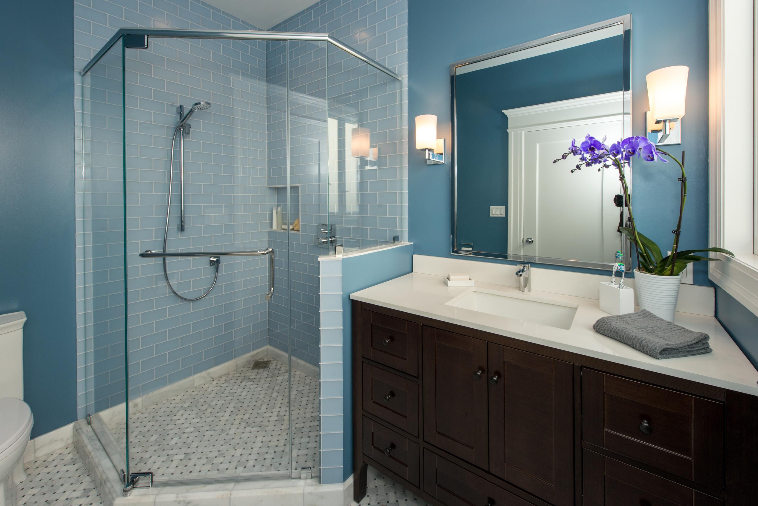 San Francisco Duboce Triangle Master Bathroom Design Set Match