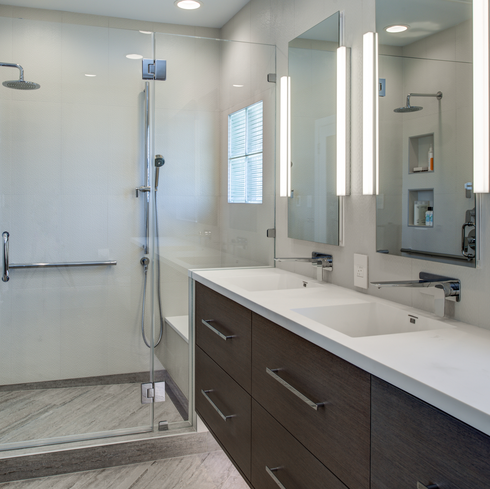 Berkeley Thousand Oaks Modern Master Bathroom  Regional Winner of the 2017 CoTY (Contractor of The Year Awards) through the National Association of the Remodeling Industry!  & 2016 REMMIE Winner through the National Association of the Remodeling Industry