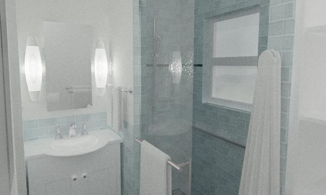 Schematic Rendering of a New Bathroom Layout