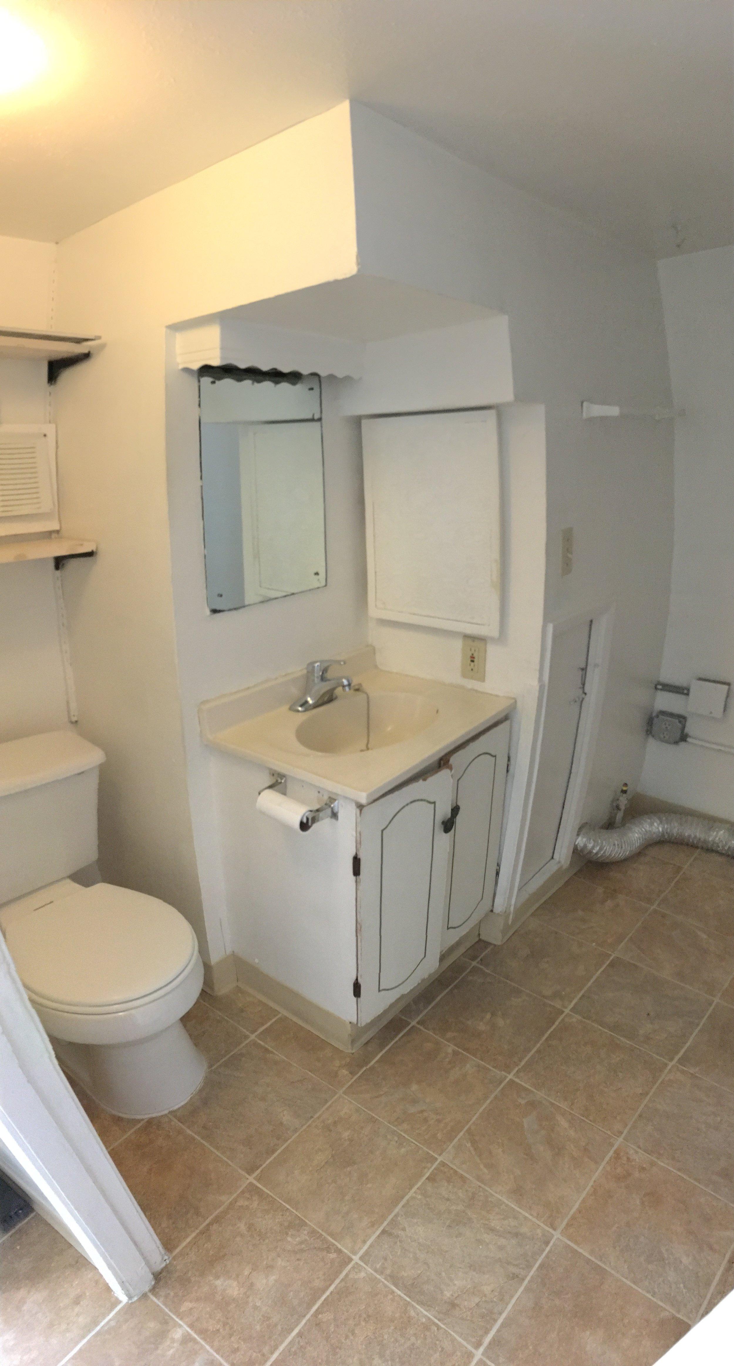 Rental Bathroom with Stairs Overhead_3.JPG