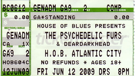 House of Blues, Atlantic City, NJ 06/12/2009