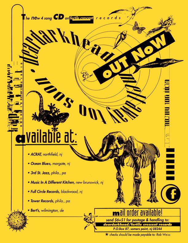 Melt Away Too Soon promo flyer 1992