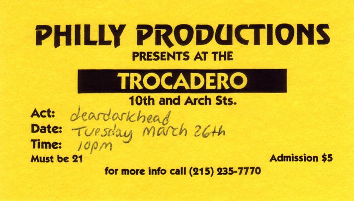 The Trocadero, Philadelphia, PA 03/26/96