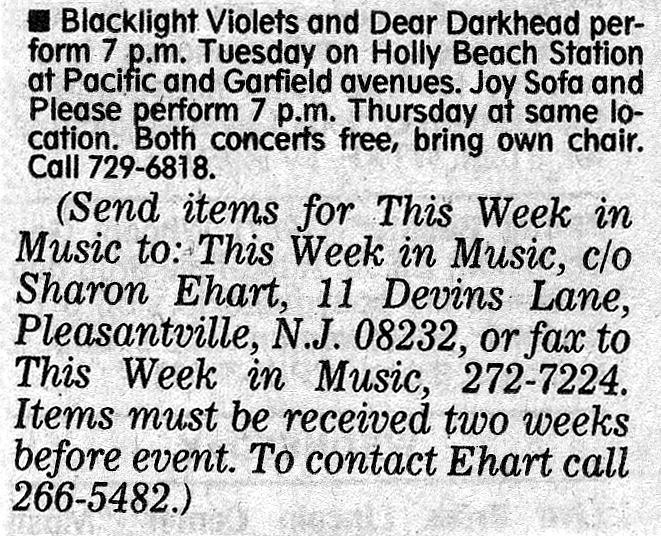Holly Beach Station, Wildwood, NJ 07/09/96