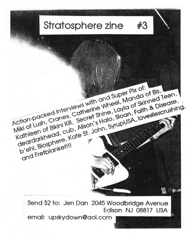 Stratosphere Zine #3 flyer, 1999