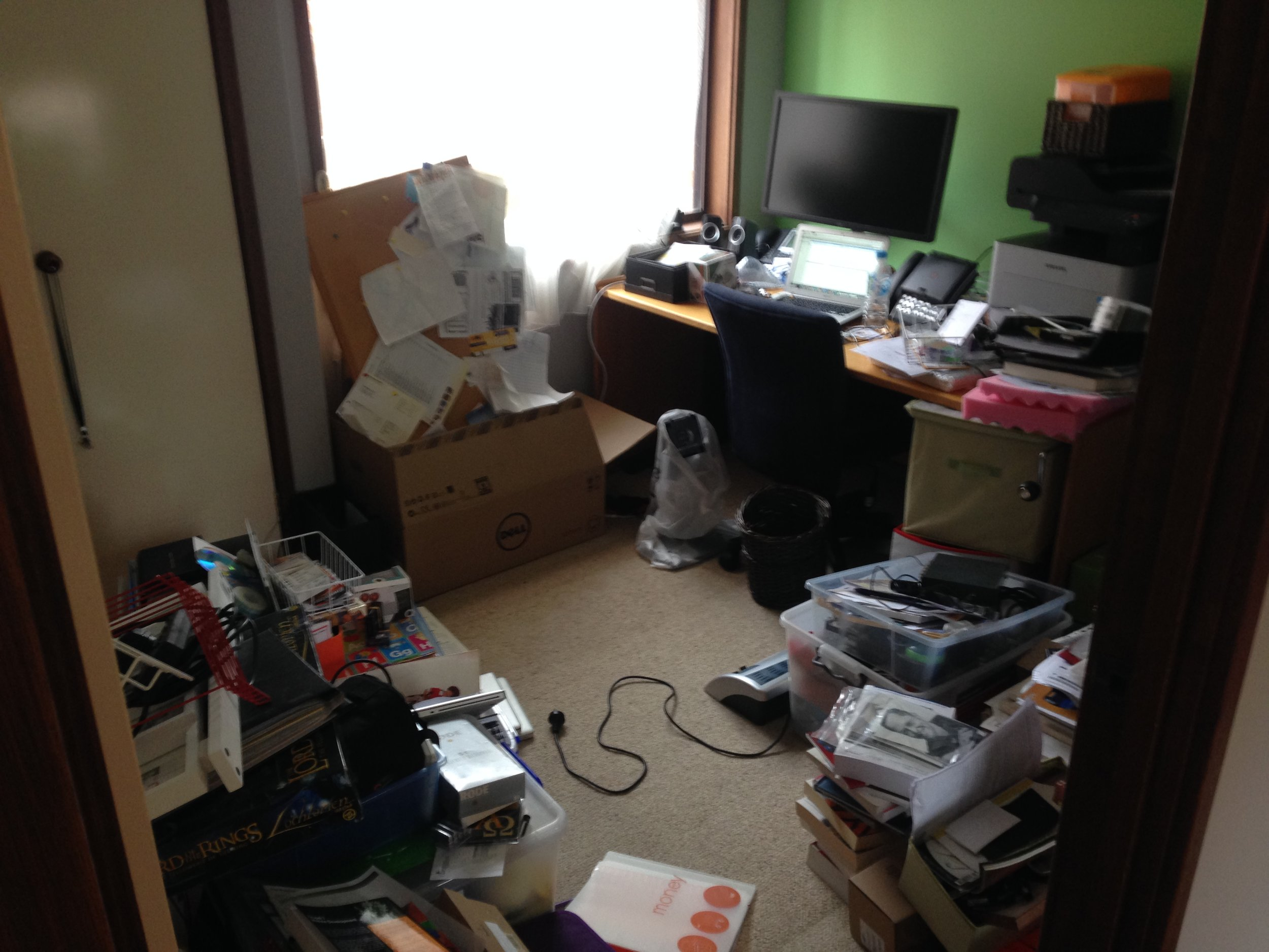 This study was a dumping ground for anything business or tech related in the home.