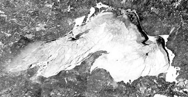 Time lapse satellite imagery shows the Great Lakes icing over in one of the coldest winters in memory