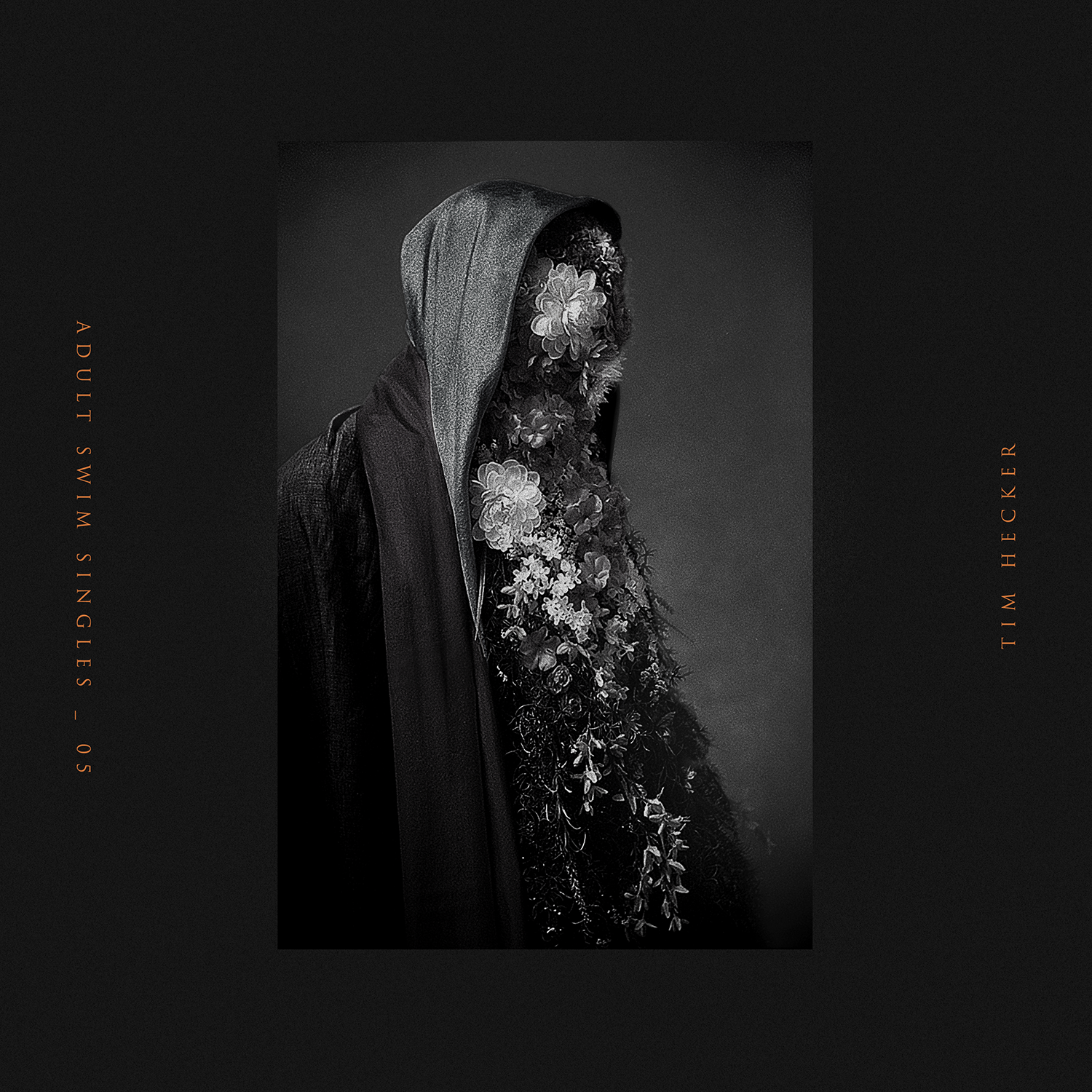 Art direction, photography and design for Tim Hecker's  Amp's,Drugs,Mellotron  single. I constructed a costume featuring a mask of handsewn silk flowers. Photography support from Brian Smith.