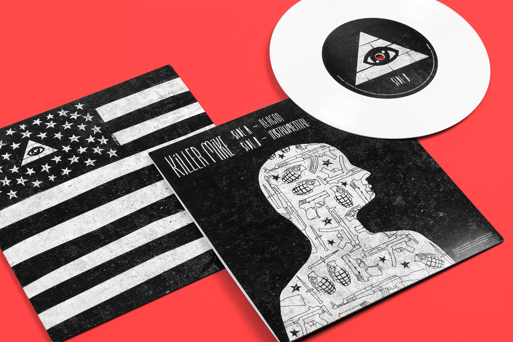 KILLER MIKE - REAGAN /// Art direction, design and illustration for limited edition vinyl packaging. Illustration's created in partnership with Daniel Garcia.