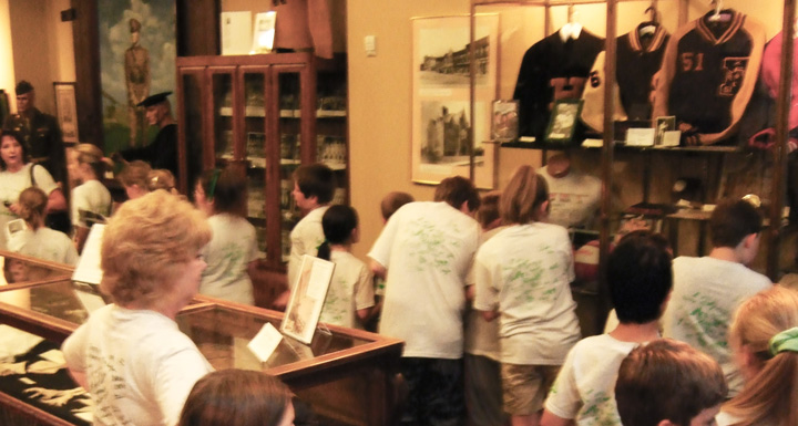 A school group gets an up close and personal look at Lawrence County history.