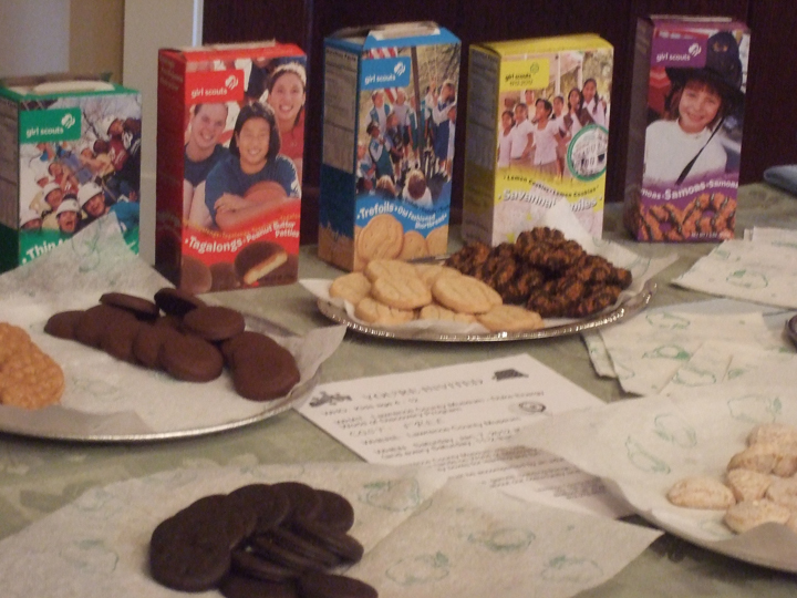 The famous Girl Scout cookies were served at the reception.