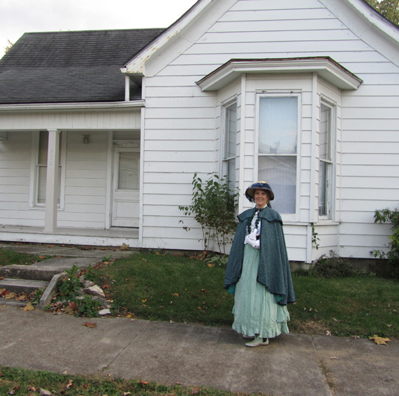 The rooming house on 13th and M Streets in Bedford was owned by Mrs. Addie Smith and is where Schafer and her roommate, Eva Love, lived in 1904. Smith is portrayed by Annette Taylor.
