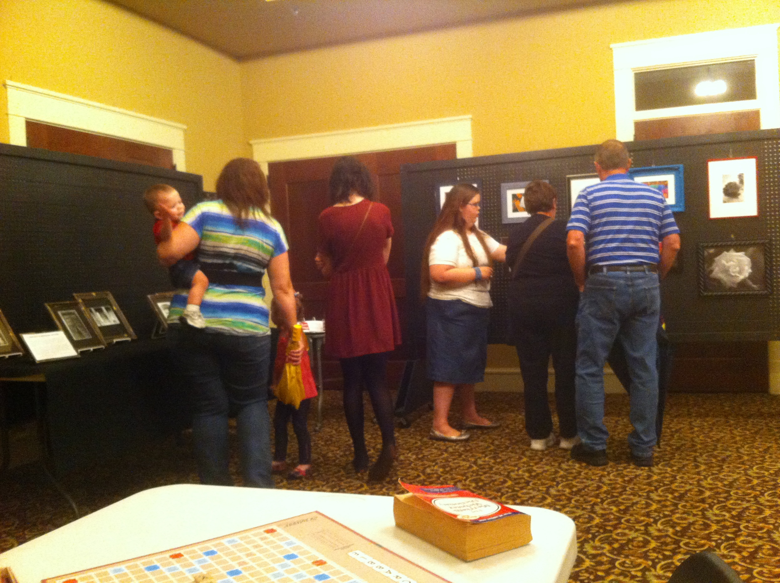 Even though it was a rainy night, the gallery walk attendance at the museum was about 70 people.