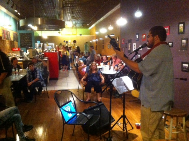 Stonecutter's Cafe & Roastery hosted entertainment. Kat's Performing Arts provided the music and dancing.