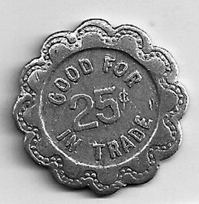 Coin tokens were given at the Holland store  and used to acquire merchandise.