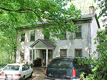 Joseph Glover's circa 1830-1840 Federal-style brick house at 25th a G Street is currently owned by Glover family descendant, Carol Anderson. Photo by Joyce Shepherd