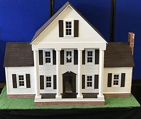 Marjorie Bailey's dollhouse - Hobby artist, Marjorie Bailey, created this dollhouse to resemble her Hillcrest Circle home.