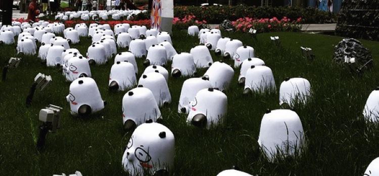 Crazy Pandas Near Jing'An Temple in Shanghai, China