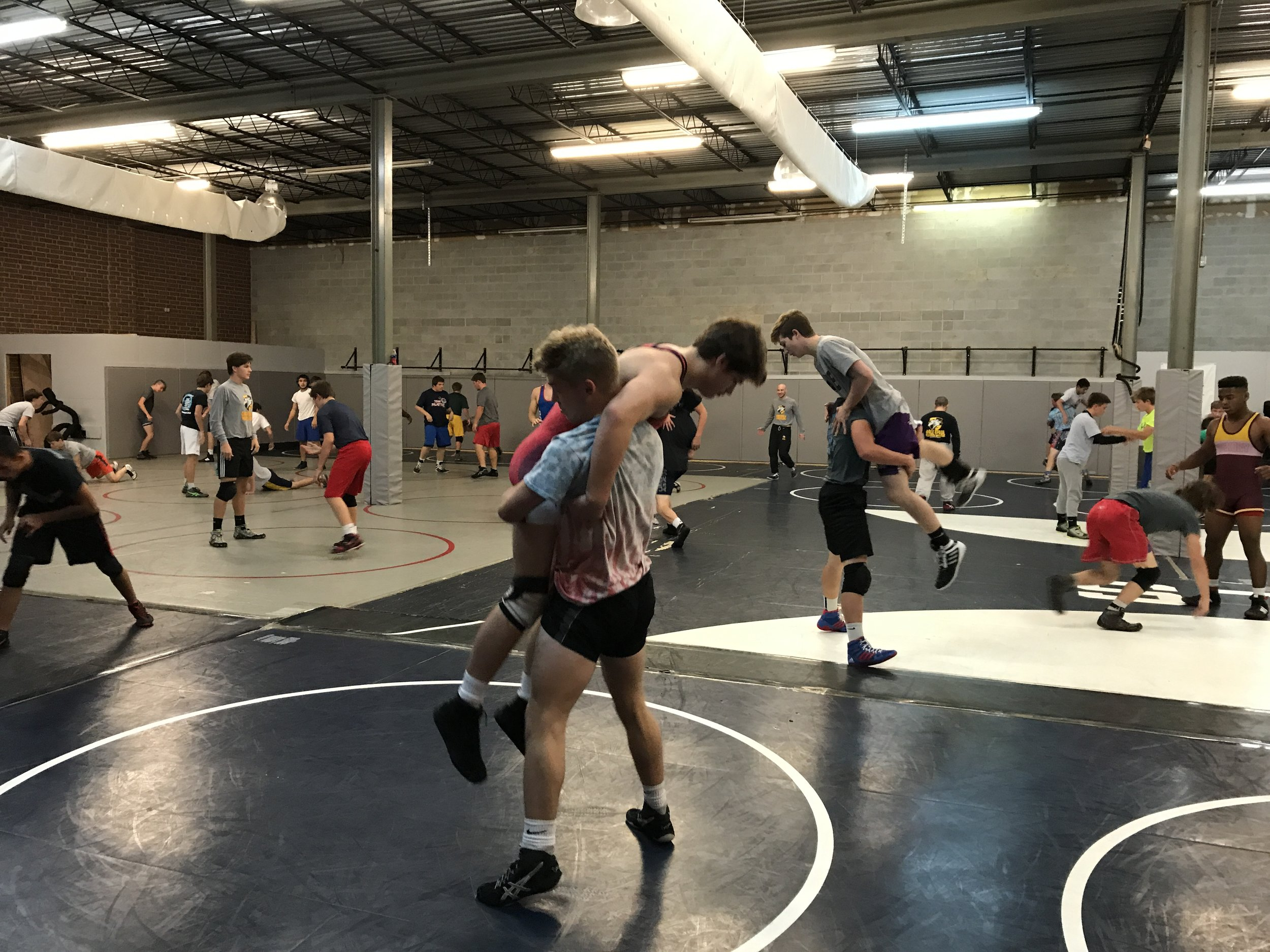 Practice at Darkhorse Wrestling