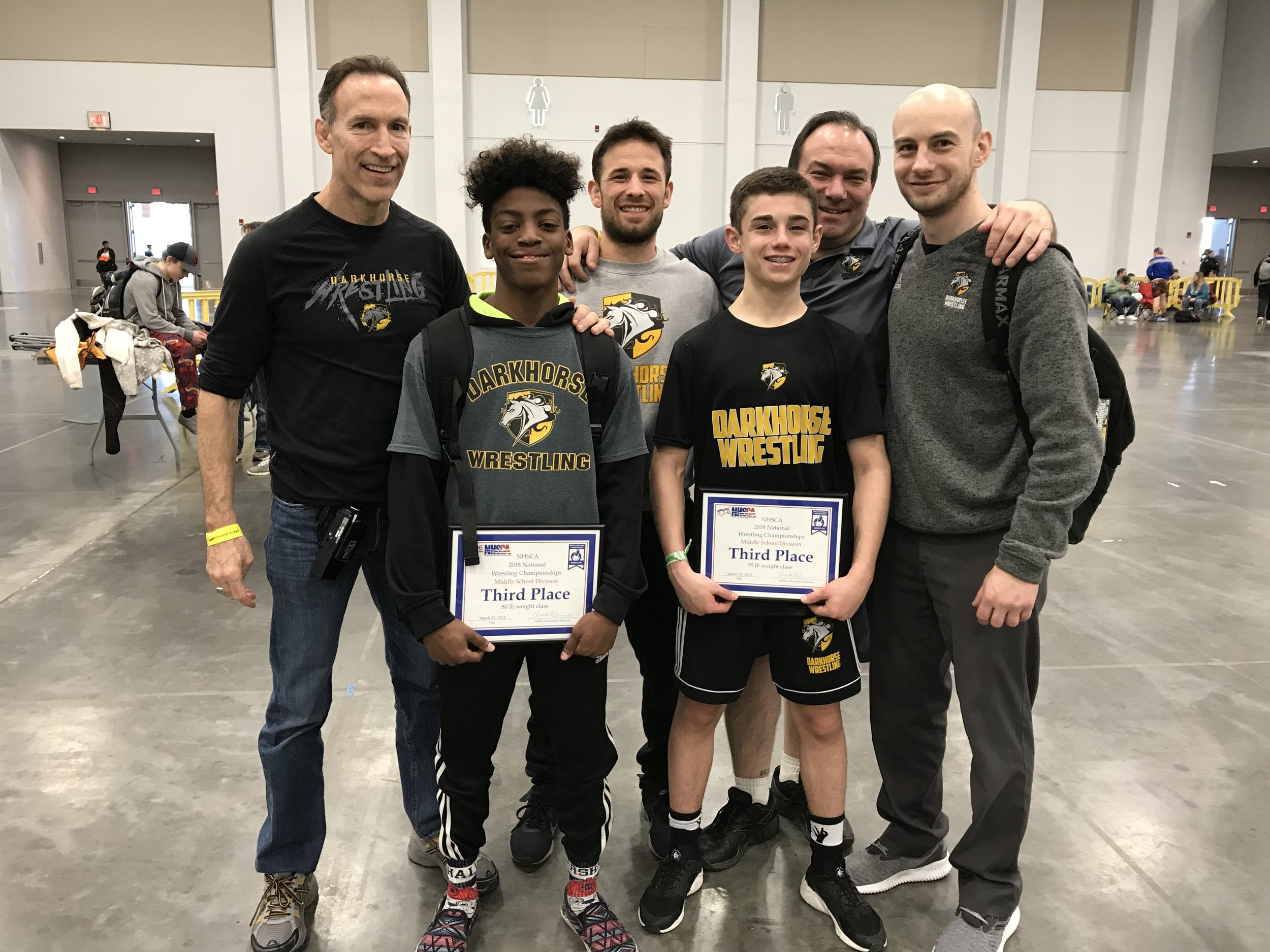 Congrats to NHSCA All-americans - Marcus Jackson (3rd) and Kyle Montaperto (3rd)
