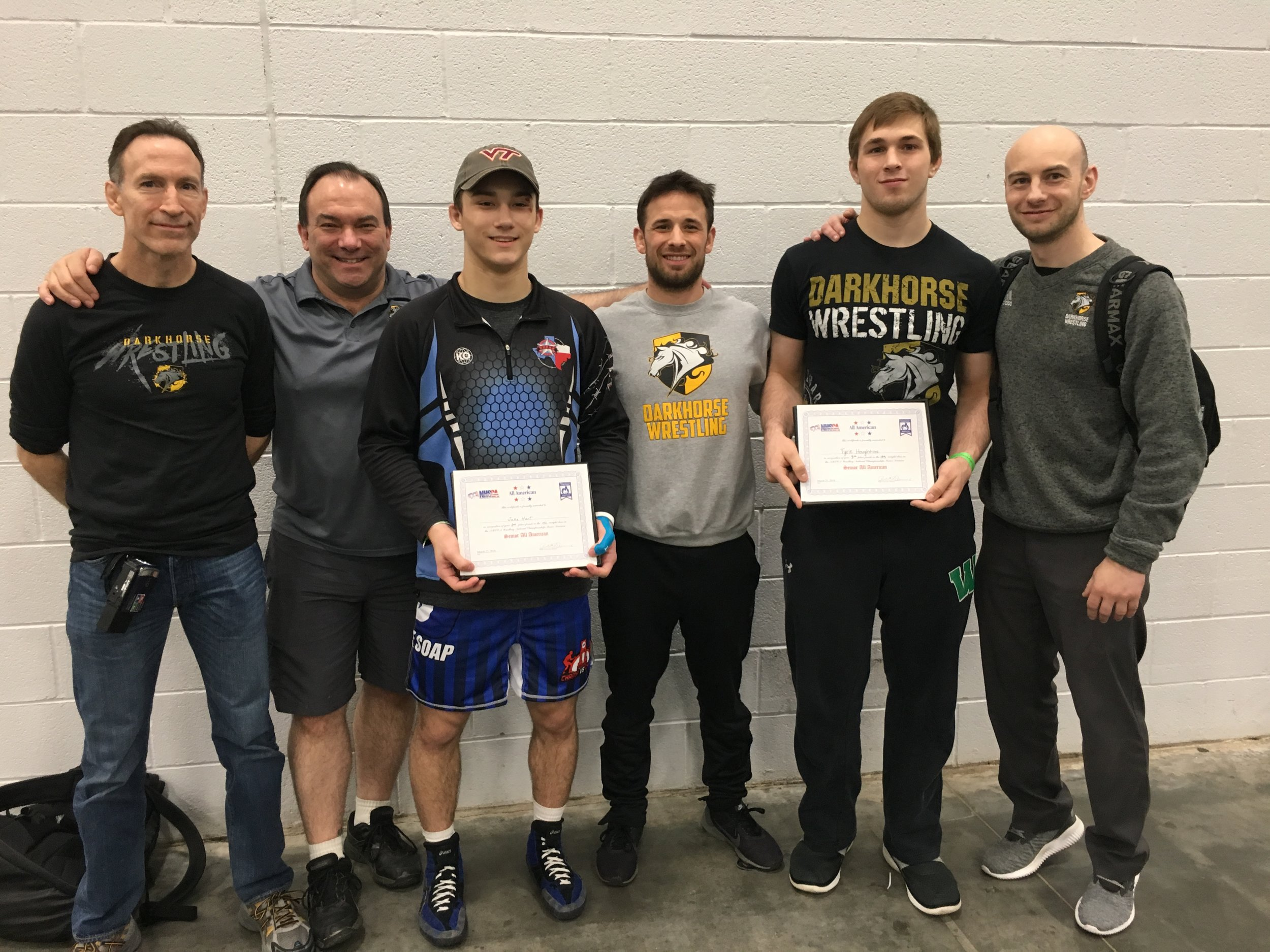 Congrats to NHSCA All-americans - Jake Hart (Runner up) and Tyrie Houghton (5th)