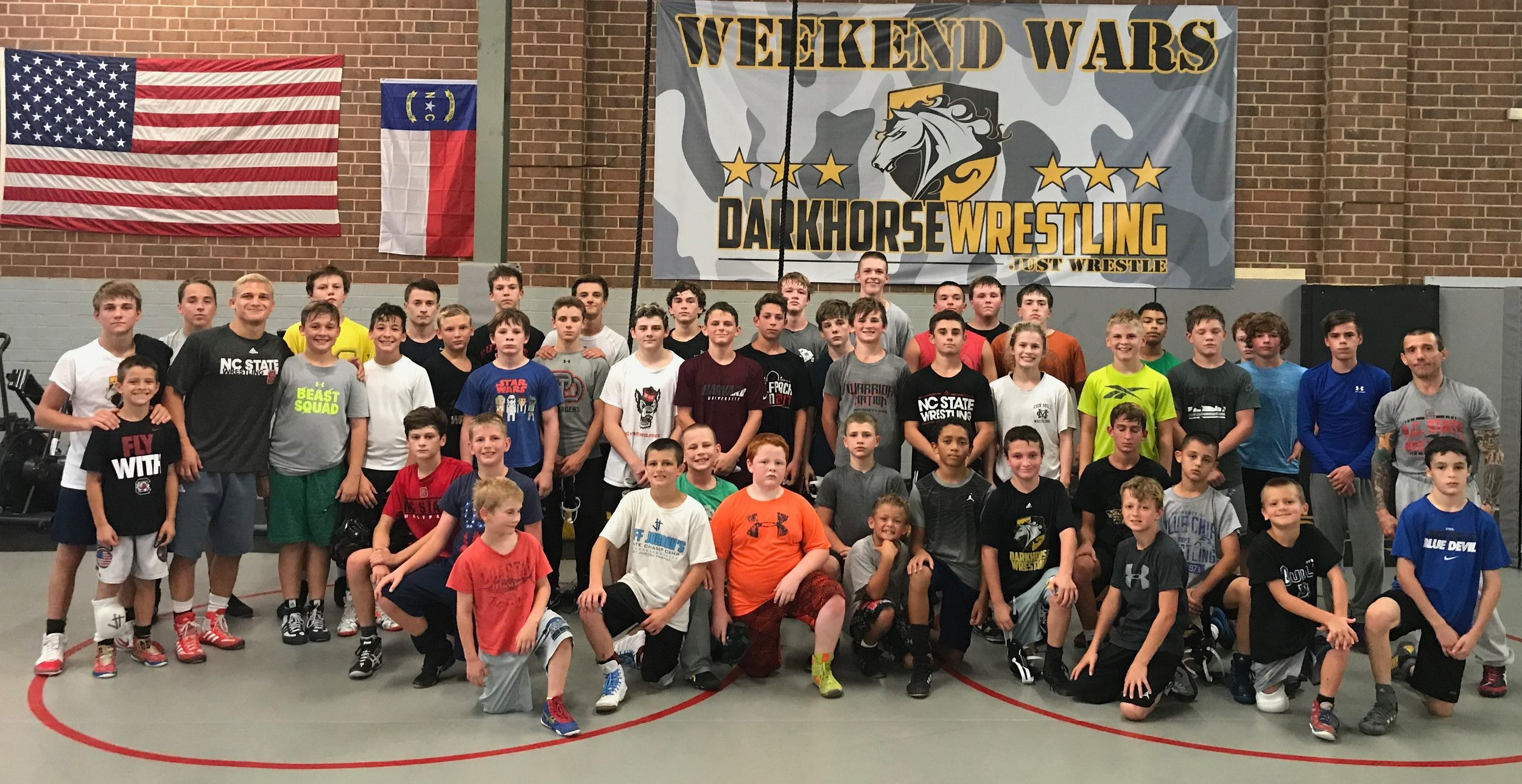 NC STATE wrestler and NCAA All-American - HAYDEN HIDLAY was a counselor at this year's camp!