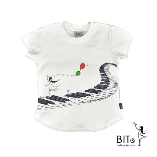 Music Delight - Organic Cotton Baby T-shirt *GIRL*