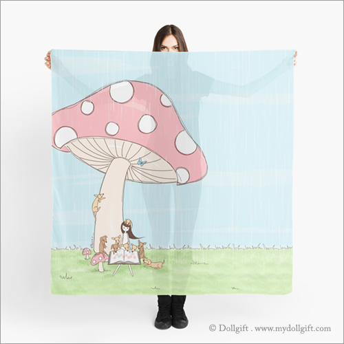 Under The Mushroom, scarf
