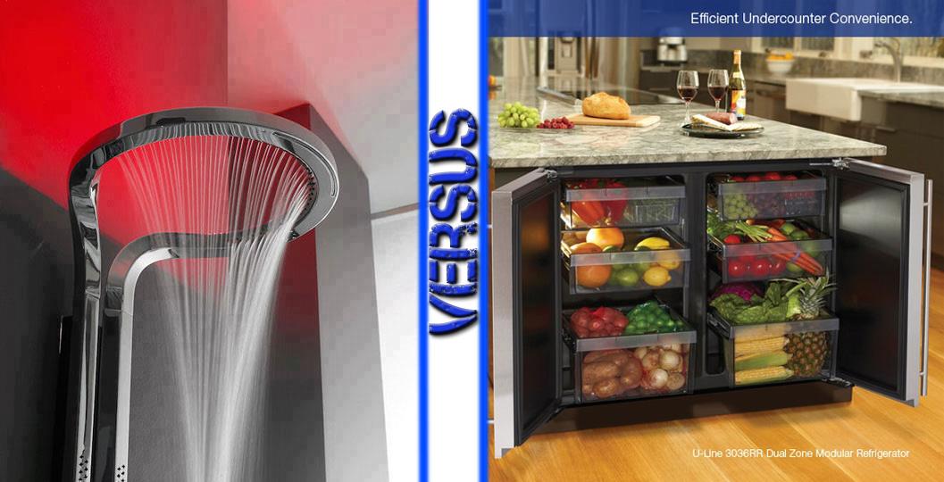Ultimate Showerhead vs Island Refridgerator