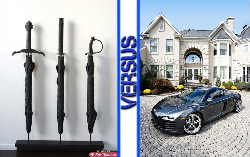 Umbrella-Sword vs Audi R8