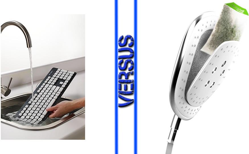 Waterproof Keyboard vs Herbal Infusion Showerhead