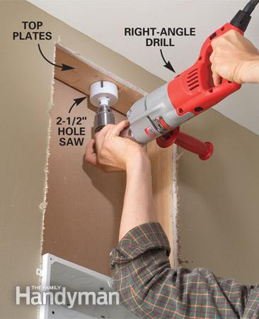 Drill Access Holes