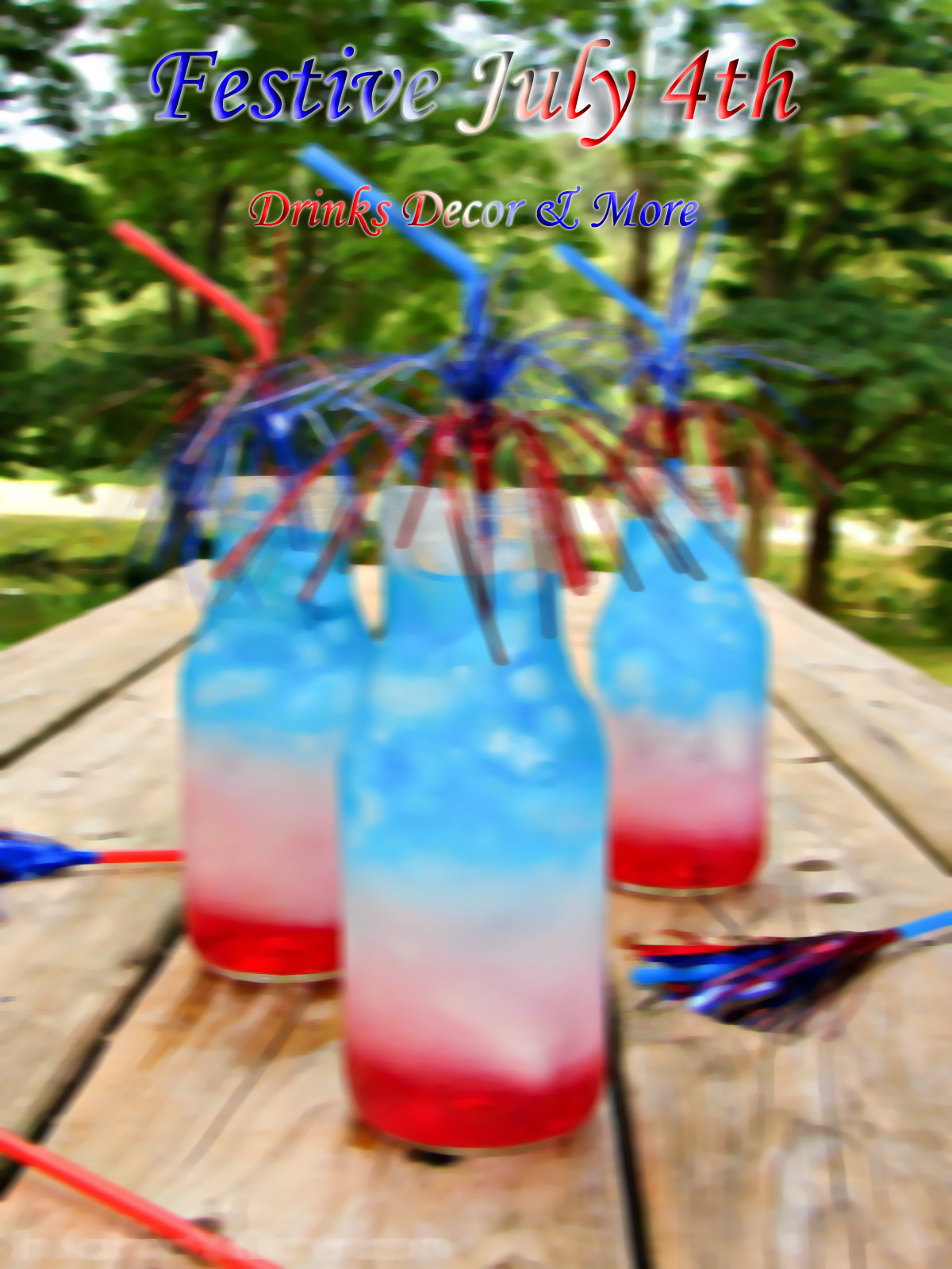 Looking to make your 4th a little more exciting? Here are some examples of drinks, desserts, decor & more to get your party started