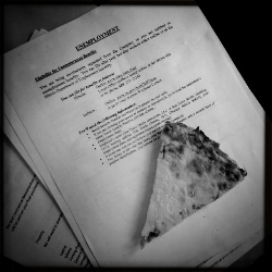 Day 1 - unemployment paperwork and cold pizza