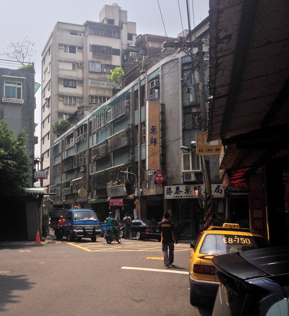 A typical Taipei side-street.