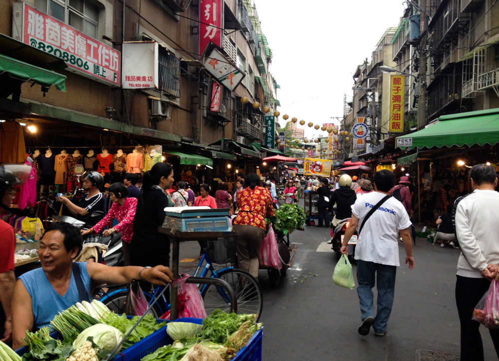 Every neighborhood of Taipei seems to have its own street market.